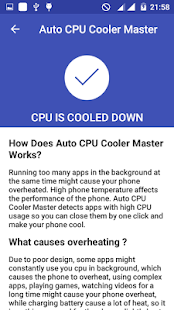 App Auto CPU Cooler Master APK for Windows Phone
