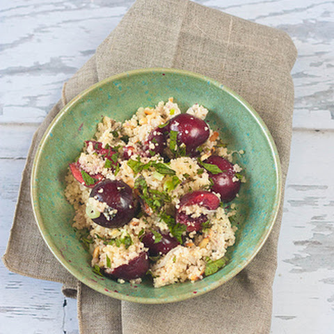Cherry and Couscous Salad with Honey Nutmeg Dressing