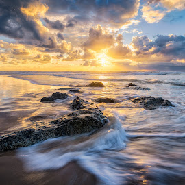 Rocks and waves by Tzvika Stein - Landscapes Beaches