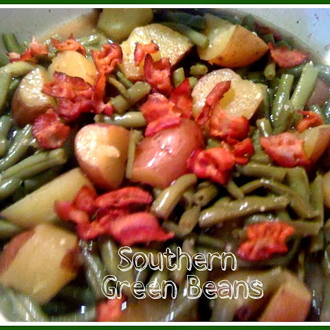 Southern Green Beans with New Potatoes and Bacon!