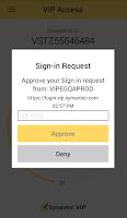 Screenshot of VIP Access