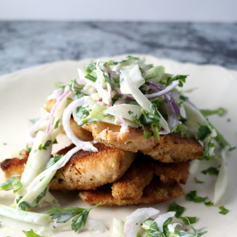 Pan-fried Trout + Fennel Slaw