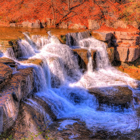 by Cal Brown - Landscapes Waterscapes ( water, fall colors, park, gorge, taughannock, falls,  )
