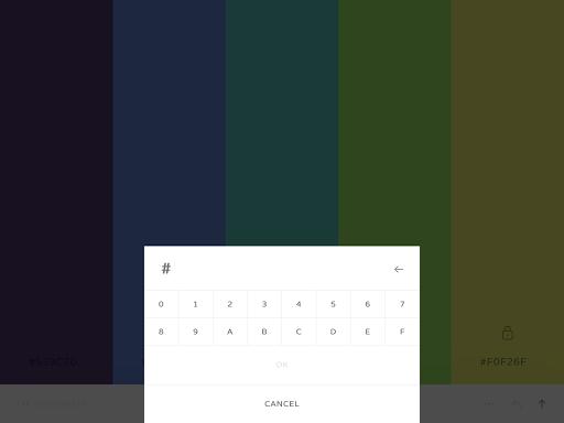 Coolors - screenshot