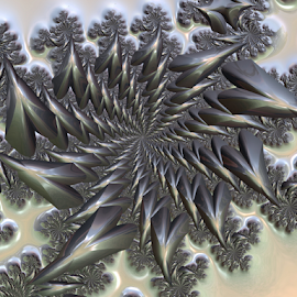 Wintertime by Cassy 67 - Illustration Abstract & Patterns ( metal, 3d, digital art, star, metallic, fractal, digital, fractals )