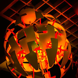 Red Globes of Light by James Kirk - Artistic Objects Glass ( red, yellow, light, globe )