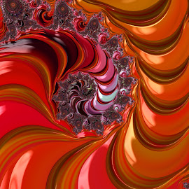 Red fractal by Capucino Julio - Illustration Abstract & Patterns ( abstract, red, fractal., digital, design )