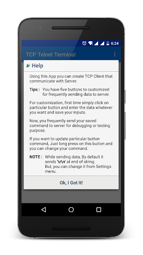 TCP Telnet Terminal - screenshot