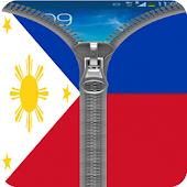 Philippines Flag Zipper Lock APK for Bluestacks