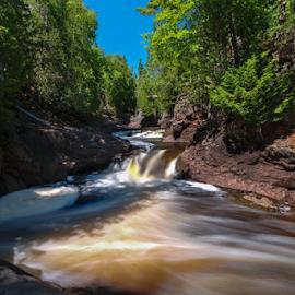 Cascade River Falls by Jill Beim - Landscapes Waterscapes ( waterfalls, nature, landscapes, river,  )