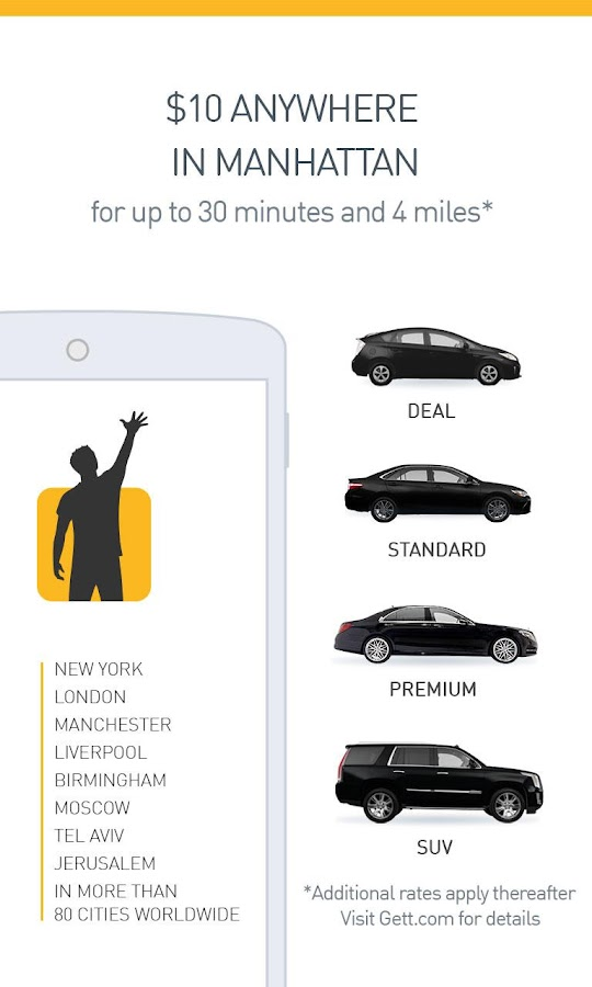 Gett (GetTaxi) - The Taxi App Screenshot