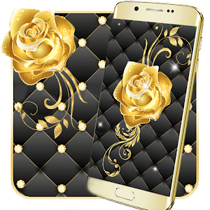 Gold Rose Live Wallpaper