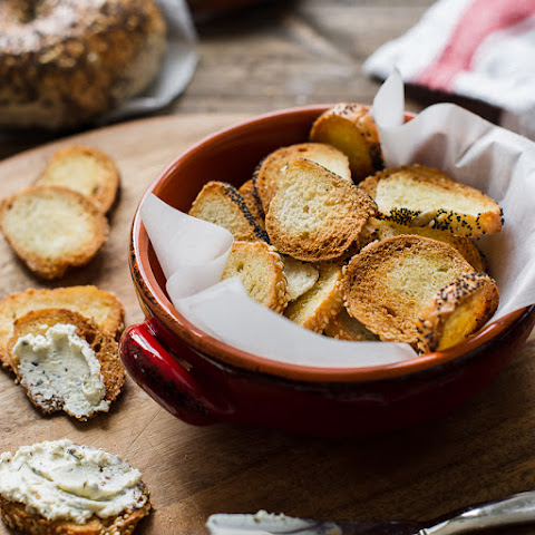 Garlic Parmesan Bagel Chips