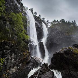 Hesjedalsfossen by Olav Aga - Landscapes Waterscapes ( vaksdal, waterfall, western norway, hesjedalsfossen, river )