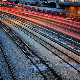 telaviv by Joel Adolfo  - Transportation Railway Tracks ( transportation, railway tracks )