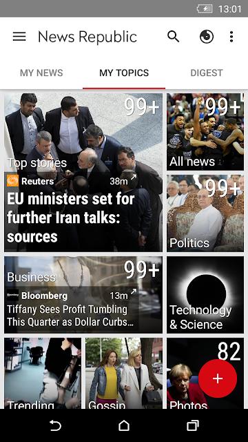 News Republic – Breaking news screenshots