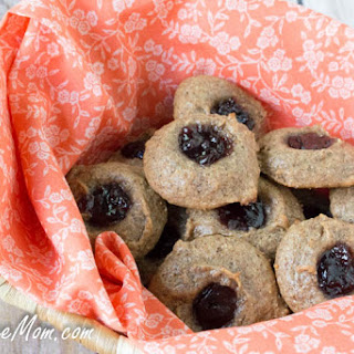 Flourless Peanut Butter & Jelly Cookies