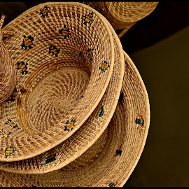 Straw Hats by Prasanta Das - Artistic Objects Clothing & Accessories ( statement, straw hats, fahion )