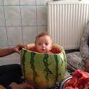 Kid in watermelon