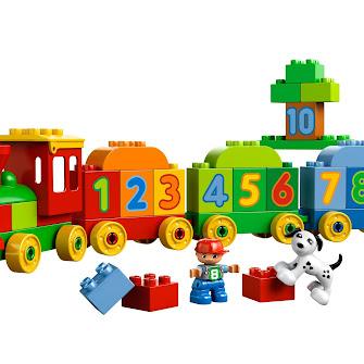 Поезд с цифрами