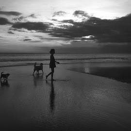 girl with 2 dogs by Sonny Adi - Instagram & Mobile Android
