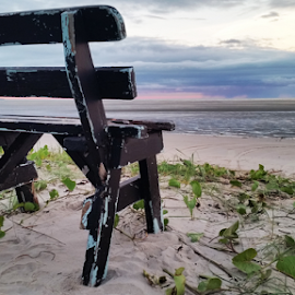 Any chair will do by Jo Soule - Artistic Objects Furniture ( chair, sunset, beach, rest, relax, tranquil, relaxing, tranquility,  )