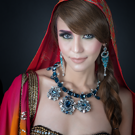 Bollywood Queen by Don Davies - People Portraits of Women
