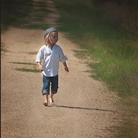 Just lookin for my dog, by Theresa  Floyd - Babies & Children Children Candids ( blonde, nephew, blue eyes, boy )