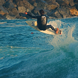 Catching Air by Jeannine Jones - Sports & Fitness Surfing
