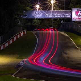 24 hours endurance of BMW and Porsche in Zolder Belgium by Roger Hamblok - Sports & Fitness Motorsports ( belgium, 24, race, mercedes, endurance, midnight, cars, racing, porsche, racecars, bmw, long exposure, night, day, zolder, racetrack,  )