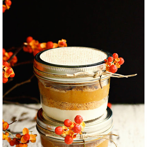 Layered Pumpkin Pie in a Jar