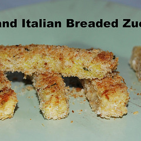 Easy Parmesan and Italian Breaded Zucchini Fries
