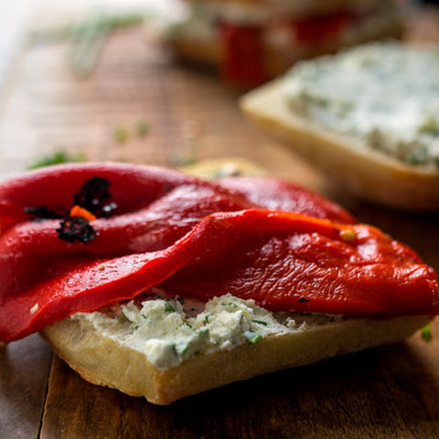 Roasted Eggplant + Herbed Goat Cheese Sandwiches Recipe | Yummly