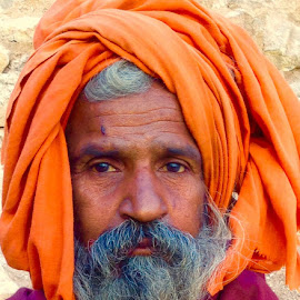 The Baba of Pavagadh  by Anjana Chakraborti - People Portraits of Men