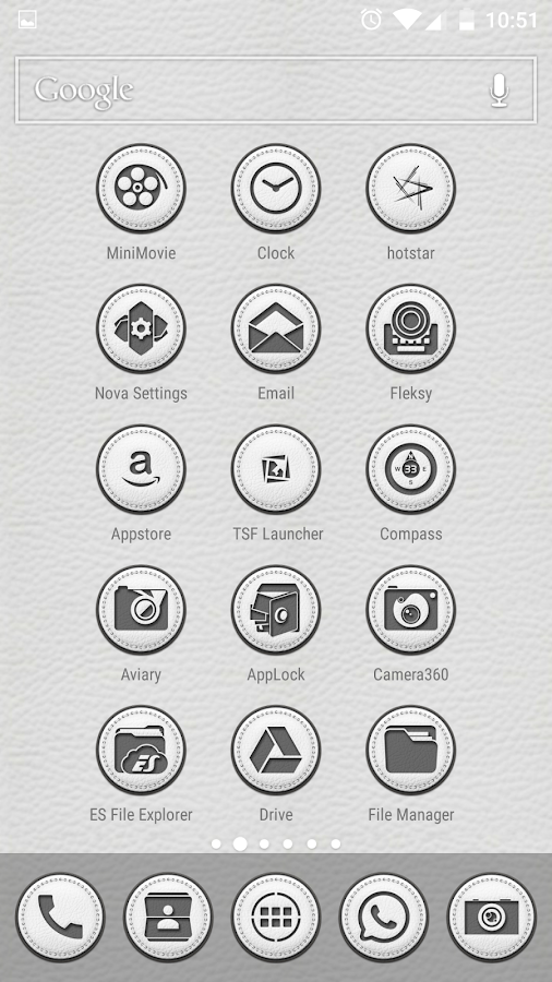White Leather TSF Shell Theme Screenshot 6