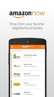 Amazon Now – Grocery Shopping