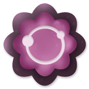 Purple Flowers Icon Pack