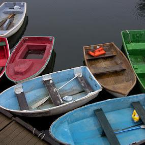 Skiffs by Andrew Boyd - Transportation Boats