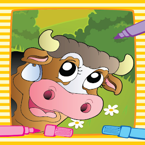 Farm Animal Villege Color Book