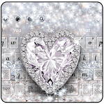 Silver Crystal Diamond Heart Theme Icon