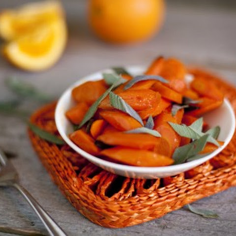 Maple Orange Carrots with Sage