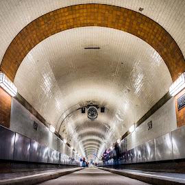 Elbtunnel by Morten Rasmussen - Buildings & Architecture Public & Historical ( morten rasmussen, elb, dorthe jakobsen, hamburg, tunnel )