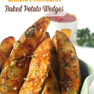 Garlic Parmesan Baked Potato Wedges