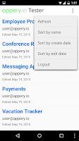 Screenshot of Appery.io Tester