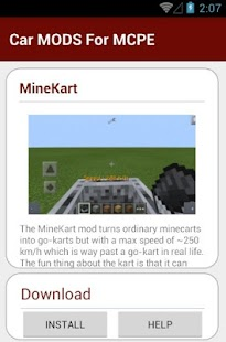 8 Car MODS For MCPE App screenshot