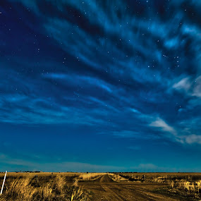 Wimmera Night Sky by Lynton Brown - Landscapes Starscapes ( sky, stars, cloud, lynton brown )