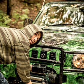 When in Doubt, Winch it out by Andreea Alexe - People Street & Candids ( car, mud, offroad, winch, man,  )