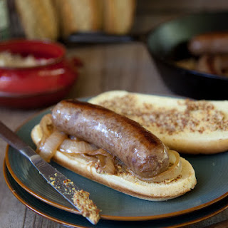 Beer Bratwurst and Onions