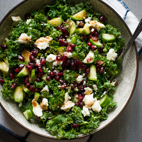 Healthy Kale Salad Recipe with Pomegranates