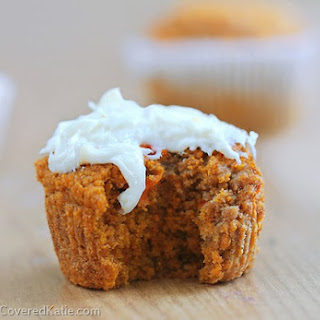 Healthy Carrot Cake Cupcakes